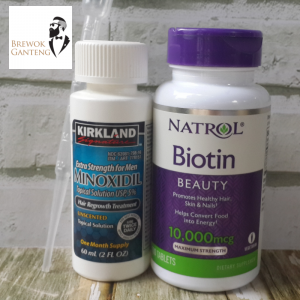 Paket Minoxidil Liquid dan Biotin Natrol
